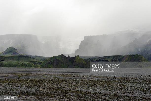 markarfljotsaurar outwash plains, south central iceland - extreme terrain stock pictures, royalty-free photos & images