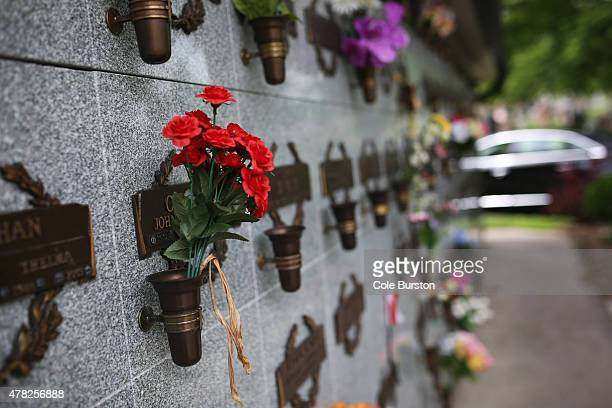 Marked niches house families' cremated loved ones at the St John's Norway Cemetery and Crematorium on June 17 2015 At times remains go unclaimed into...