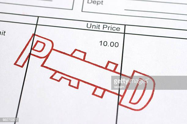 marked paid - paid stock pictures, royalty-free photos & images