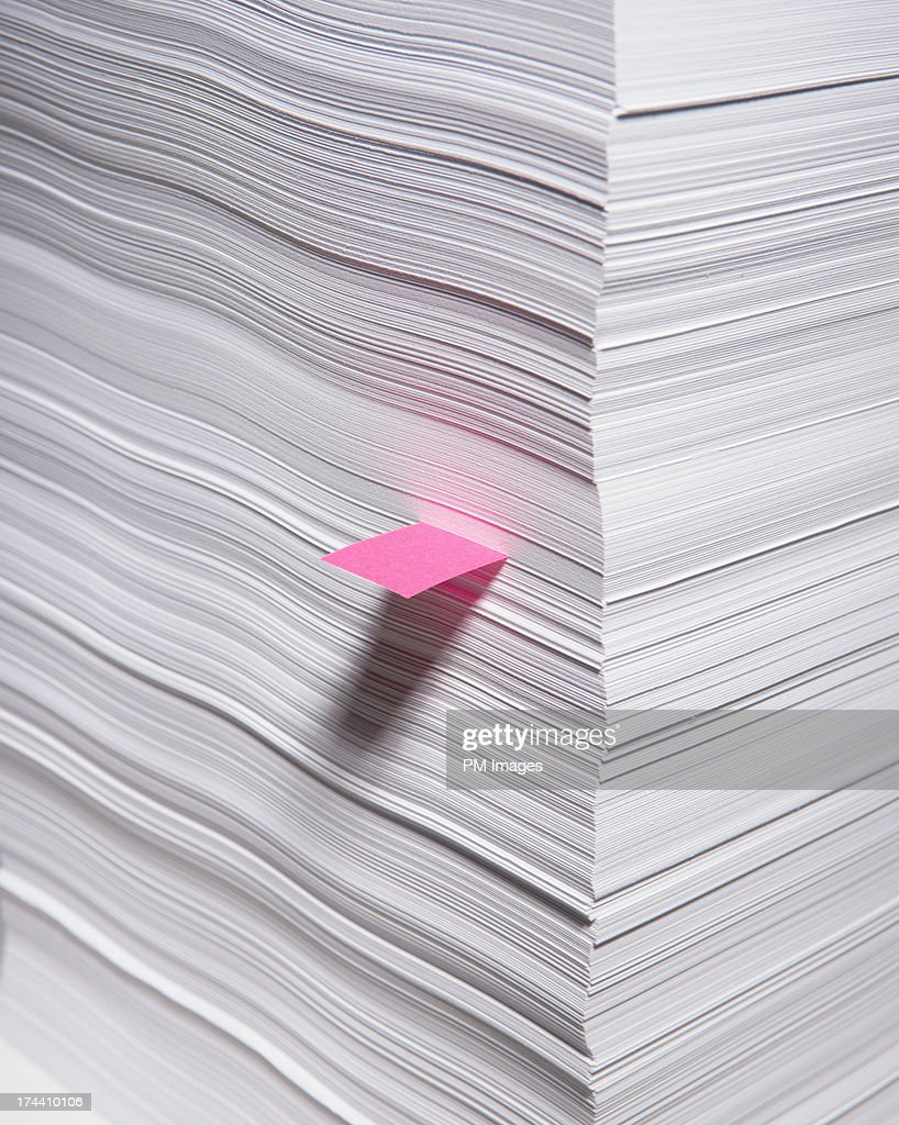 Marked sheet of paper : Stock Photo