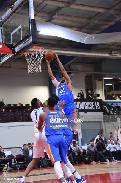 Markel Brown of the Oklahoma City Blue shoots the ball against the Long Island Nets at NBA G League Showcase Game 18 on January 12 2018 at the...