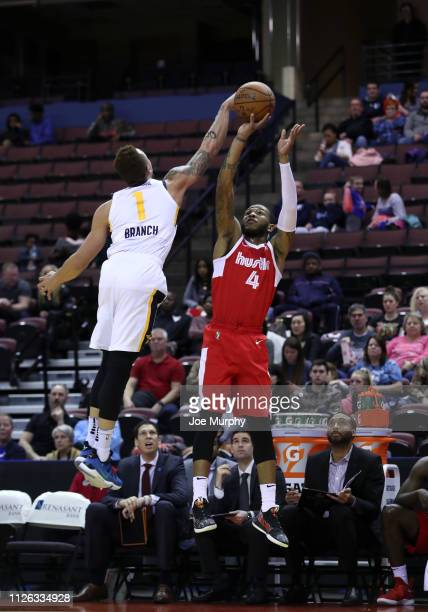 Markel Crawford of the Memphis Hustle shoots a jump shot against the Salt Lake City Stars during an NBA GLeague game on February 20 2019 at Landers...