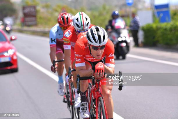 Markel Irizar Aranburu of Spain and Team Trek-Segafredo / Davide Ballerini of Italy and Team Androni Giocattoli-Sidermec / Maxim Belkov of Rusia and...