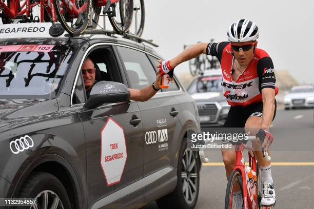 Markel Irizar Aranburu of Spain and Team Trek-Segafredo / Feed Zone / Bottle / Car / during the 5th UAE Tour 2019, Stage 6 a 180km stage from Ajman...