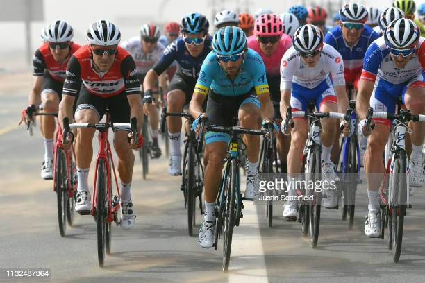 Markel Irizar Aranburu of Spain and Team TrekSegafredo / Manuele Boaro of Italy and Astana Pro Team / David Gaudu of France and Team GroupamaFDJ...