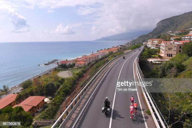 Markel Irizar Aranburu of Spain and Team Trek-Segafredo / Maxim Belkov of Rusia and Team Katusha-Alpecin / Davide Ballerini of Italy and Team Androni...