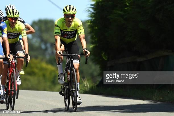 Markel Irizar of Spain and Team Trek-Segafredo and Giulio Ciccone of Italy and Team Trek-Segafredo training before competing in Markel's last race as...