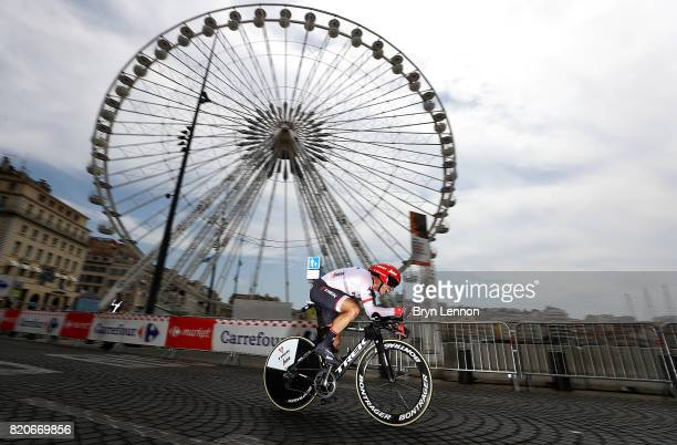 Markel Irizar of Spain and Trek - Segafredo in action during stage twenty of Le Tour de France 2017 on July 22, 2017 in Marseille, France.