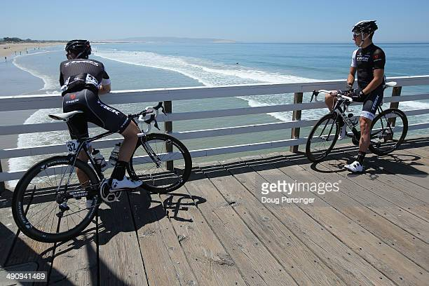 Markel Irizar of Spain riding for the Trek Factory Racing Team and Danny Van Poppel of the Netherlands riding for the Trek Factory Racing Team take...
