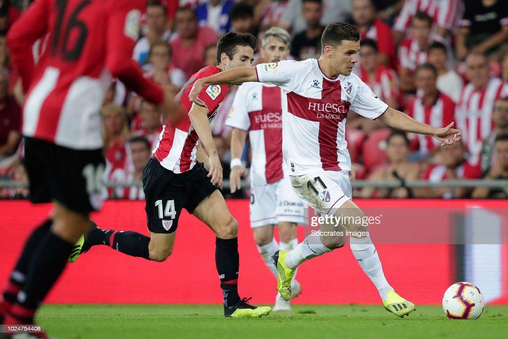 Markel Susaeta of Athletic Bilbao, Alex Gallar of SD ...