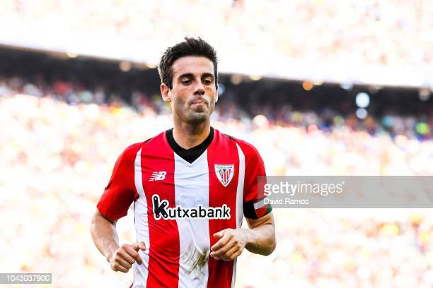 Markel Susaeta of Athletic Club looks on the La Liga match between FC Barcelona and Athletic Club at Camp Nou on September 29 2018 in Barcelona Spain