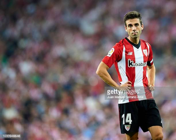 Markel Susaeta of Athletic Club reacts during the La Liga match between Athletic Club Bilbao and Real Madrid at San Mames Stadium on September 15...