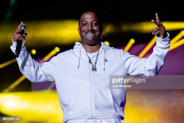 Markell Riley of WreckxnEffect performs onstage during the 2018 Essence Festival at the MercedesBenz Superdome on July 8 2018 in New Orleans Louisiana