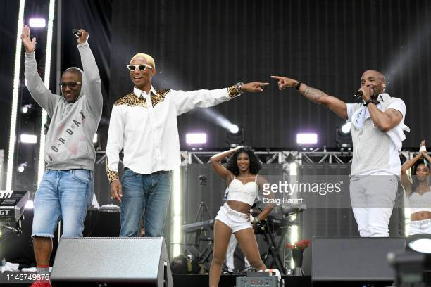 Markell Riley Pharrell and Teddy Riley perform onstage at SOMETHING IN THE WATER Day 3 on April 28 2019 in Virginia Beach City