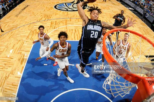 Markelle Fultz of the Orlando Magic dunks the ball against the Cleveland Cavaliers on October 23 2019 at Amway Center in Orlando Florida NOTE TO USER...
