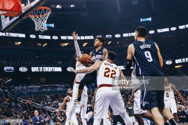 Markelle Fultz of the Orlando Magic goes for a jump shot against the Cleveland Cavaliers in the 1st quarter at Amway Center on October 23 2019 in...