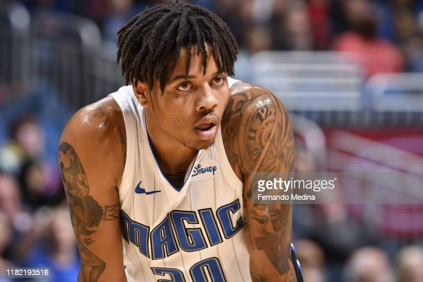 Markelle Fultz of the Orlando Magic looks on against the Philadelphia 76ers on November 13 2019 at Amway Center in Orlando Florida NOTE TO USER User...