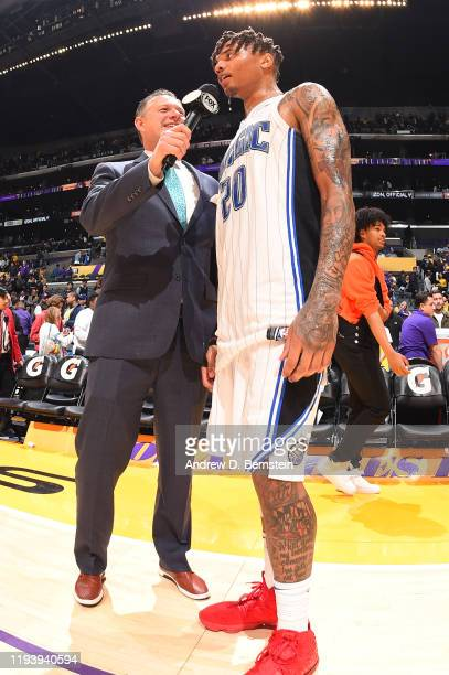 Markelle Fultz of the Orlando Magic speaks to the media following the game against the Los Angeles Lakers on January 15 2020 at STAPLES Center in Los...