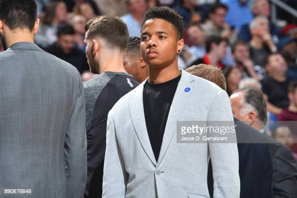 Markelle Fultz of the Philadelphia 76ers looks on during the game against the Indiana Pacers on November 3 2017 at Wells Fargo Center in Philadelphia...