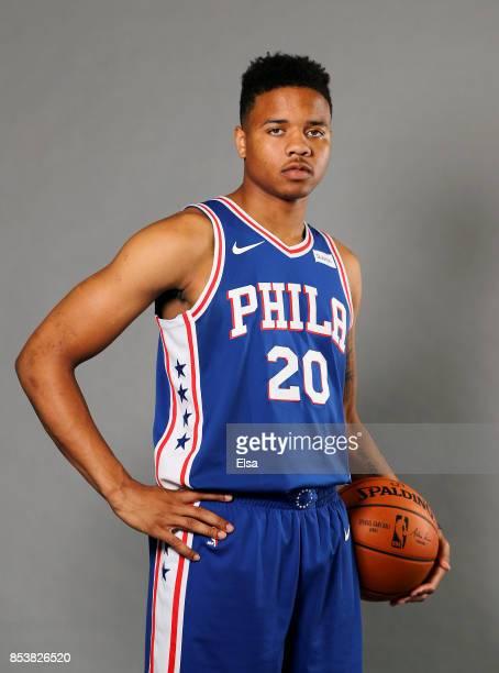 Markelle Fultz of the Philadelphia 76ers poses for a portrait during the Philadelphia 76ers Media Day on September 25 2017 at the Philadelphia 76ers...