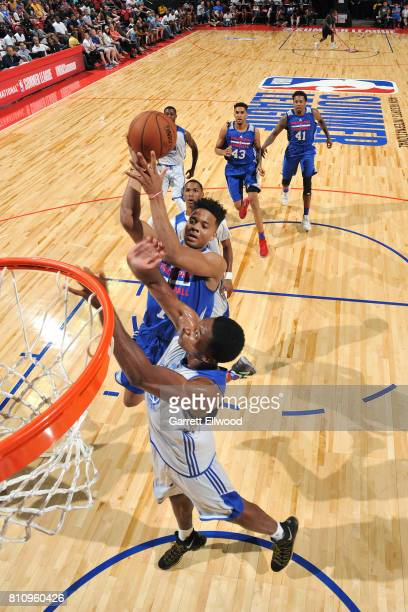 Markelle Fultz of the Philadelphia 76ers shoots the ball during the game against the Golden State Warriors during the 2017 Las Vegas Summer League on...
