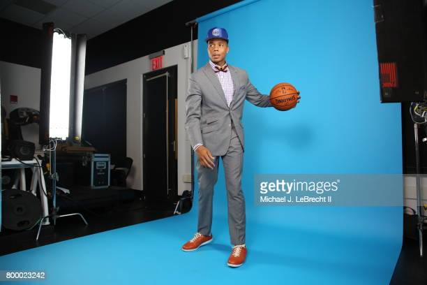 Markelle Fultz selected number one overall by the Philadelphia 76ers behind the scenes at the 2017 NBA Draft on June 22 2017 at Barclays Center in...