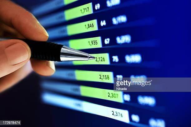 市場分析 - 情報伝達サイン ストックフォトと画像