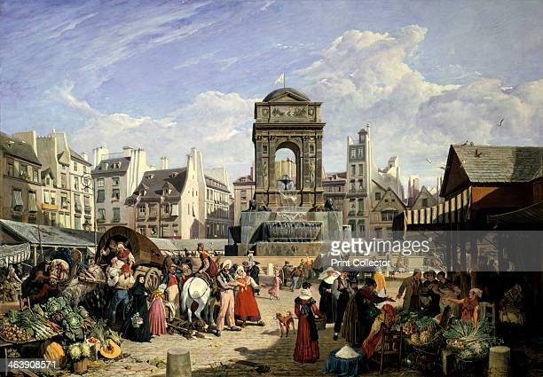 'Market and Fountain of the Innocents' Paris 1823 From the Collection Guillemot Musee Carnavalet Paris