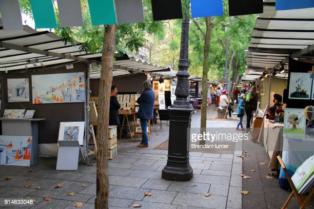 market art - bastille stock photos and pictures