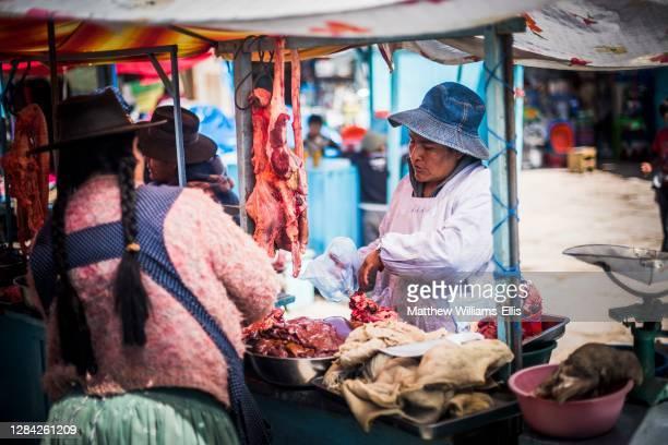 Market at Potosi, Department of Potosi, Bolivia, South America.