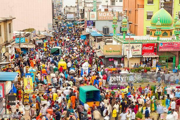 k.r. market, bangalore (bengaluru), karnataka - bangalore stock pictures, royalty-free photos & images