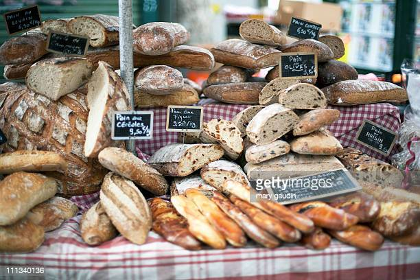 market bread - french culture stock pictures, royalty-free photos & images
