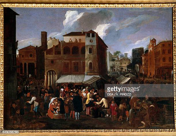 Market by Willem Reuter oil on canvas 98x134 cm Rome Galleria Spada