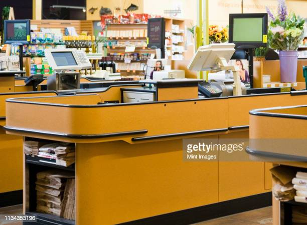 market check stand - cash register stock pictures, royalty-free photos & images