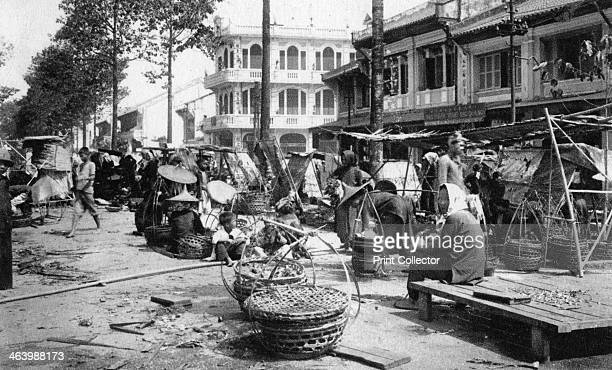 Market Cholon Saigon Vietnam Cholon is the Chinese district of Saigon or Ho Chi Minh City as it is now known as