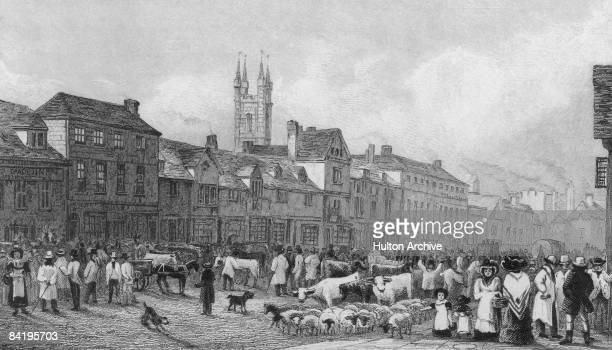 Market day in Ashford Kent 1830 An engraving by Garner after a drawing by George Shepherd
