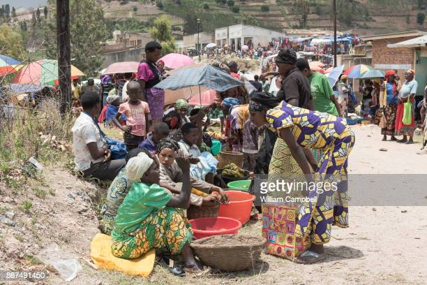 Market day in the Giko Cell of Kayumbu Sector Rwanda is the most densely populated country in Africa There are an estimated 352 people per square...