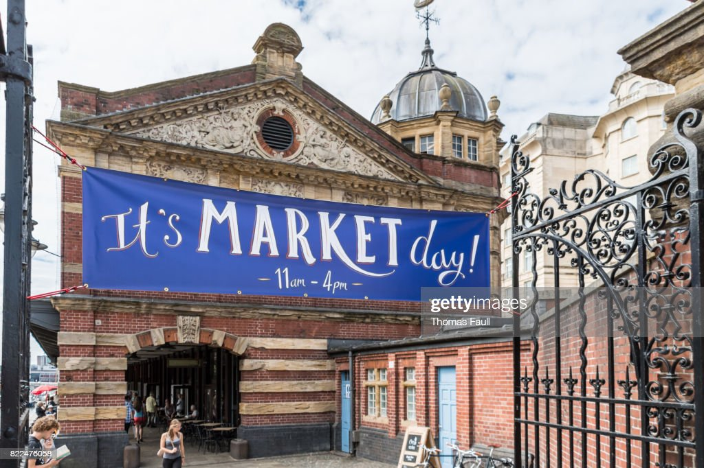 Market Day sign in Bristol : Stock Photo