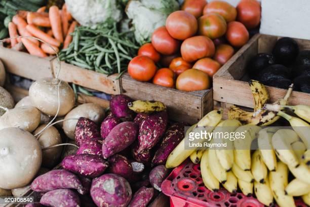 Market Display Of Beautiful Fresh Fruit