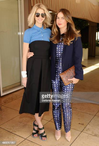 Market Editor of Vogue Kelly Connor and photographer Claiborne Swanson Frank attend Vogue Lunch In Celebration Of The Etro Spring Collection Hosted...