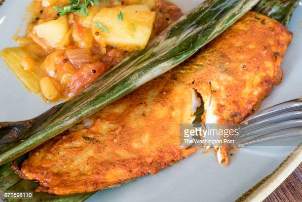 Market Fish tamarind fennel black pepper kachumber salad potato roast at Bindaas