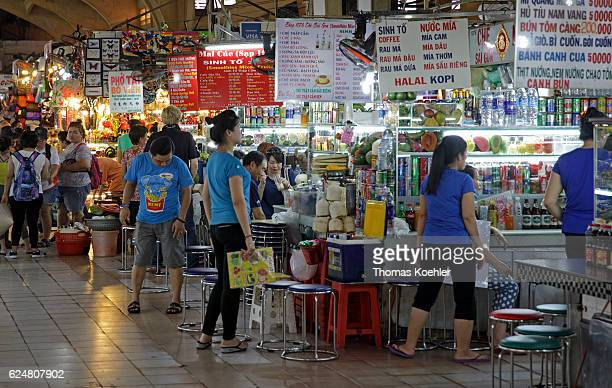 Market hall in Ho Chi Minh City on November 01 2016 in Ho Chi Minh City Vietnam