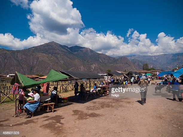 Market in a small Andean mountain town, Ayacucho, Peru