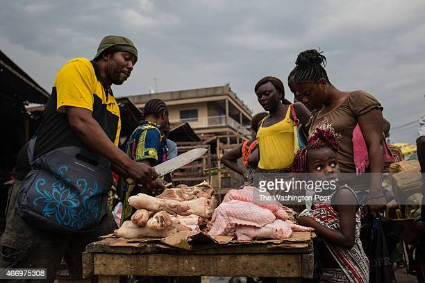 A market in Brazzaville sells both imported and wild pig including the red river hog and other popular forms of bushmeat Scientists have speculated...
