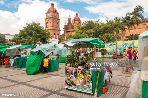 mercado en el centro de santa cruz de la sierra bolivia - santa cruz de la sierra bolivia fotografías e imágenes de stock