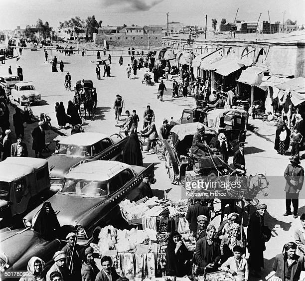 A market in Erbil the town built above oldest cities and believed to be the oldest continuously inhabited city in the world on June 27 1963 in Erbil...