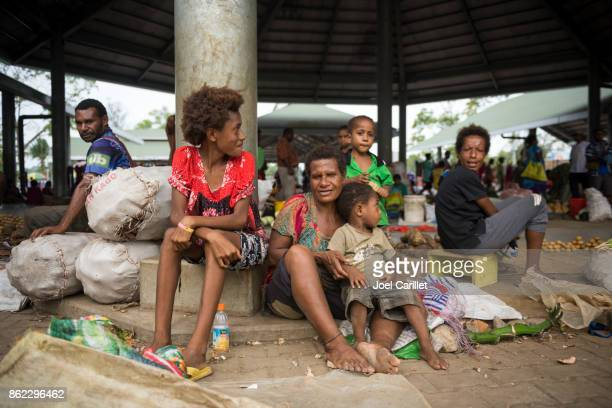 market in madang, papua new guinea - papua new guinea stock pictures, royalty-free photos & images