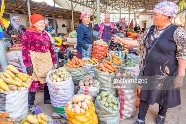 market in osh kyrgyzstan - kyrgyzstan stock pictures, royalty-free photos & images