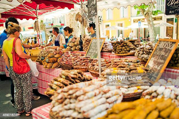 market in provence - aix en provence stock pictures, royalty-free photos & images