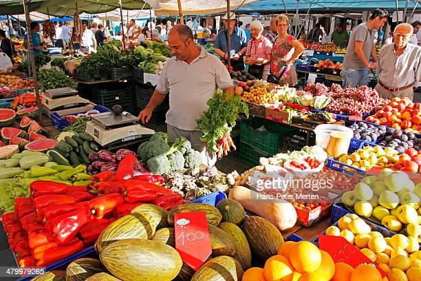 market in Puerto Pollenca, Mallorca, Spain
